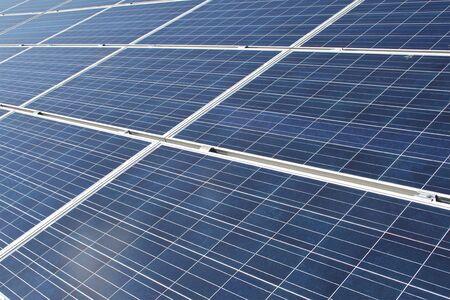 photovoltaic power station: Solar panels Stock Photo