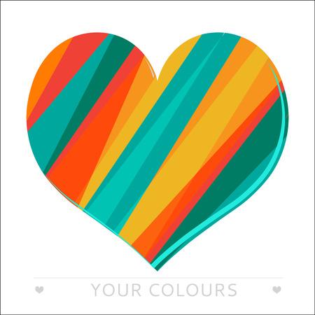 declaration: Valentines Colourful Heart stripes