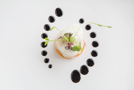 Molecular high end gastronomy kitchen. HIghend culinary