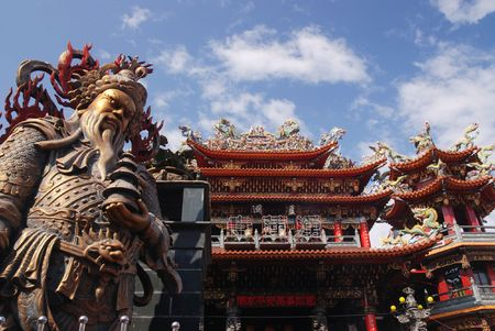 It is traditional god idol in Taiwan. Stock Photo
