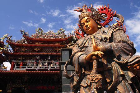 Es ist die traditionelle Gott-Idol in Taiwan.