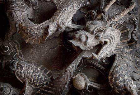 Es ist ein chinesischer Monster Carving Stein.