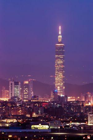 It is a beautiful night scene of city.