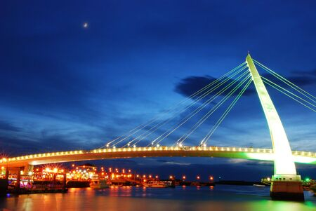 It is a beautiful and colorful bridge. Stock Photo