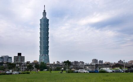 Taipei 101 was a famous landmark in world. In front of this skyscraper was an old community. Another renewal scenery in morden city.