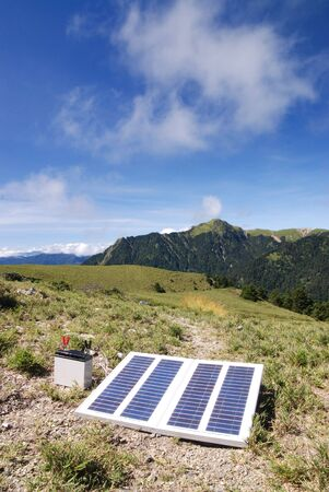 Solar power in high mountain. Stock Photo - 5693467