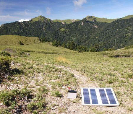 Solar power in high mountain.