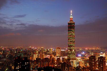 Es ist die sch�ne Stadt Nacht in Taiwan.