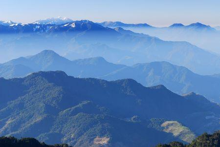 MT jade mit Schnee Szenerie in Asien.