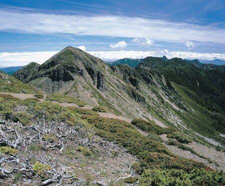 Nature landscape of mountain scenery,taiwan,asia. Stock Photo