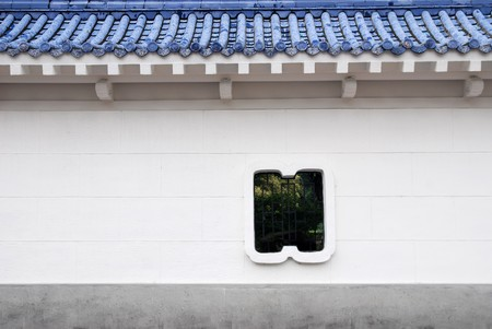 Chinese style courtyard wall . photo