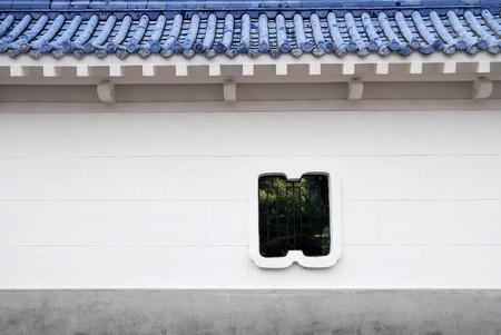 Chinesischen Stil Innenhof Wand.  Lizenzfreie Bilder