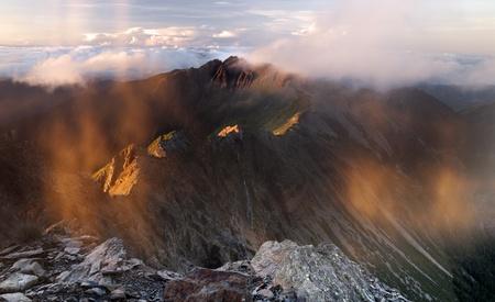Mountain jade south peak in dawn.