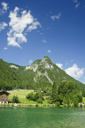 nature landscape of green mountain in Berchtesgaden national park,Germany,Europe. photo