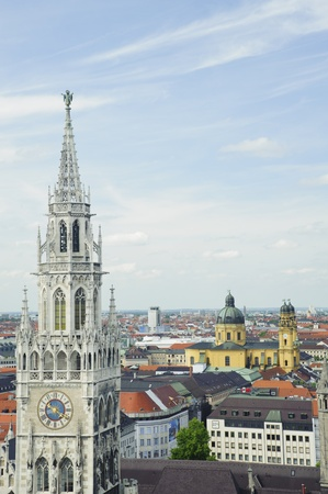 aerial view of Munich cityscape from the tower of the Peterskirche photo