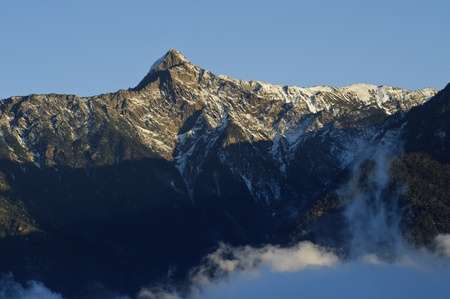Landscape of snow mountain in Taiwan,asia