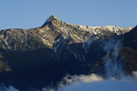 Landschaft von Schnee Berg in Taiwan, Asia