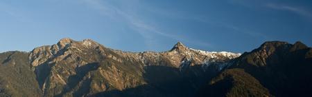 Panoramic views of golden snow mountain in yushan national park,Taiwan,asia  Stock Photo
