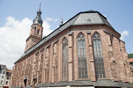 holy spirit: Church of the Holy Spirit in Heidelberg, Germany ,europe  Stock Photo
