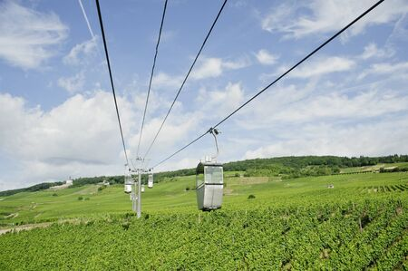transportation of cable car on vineyard valley in germany photo