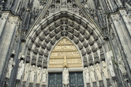 Facade of Cologne Cathedral in Germany,europe  photo