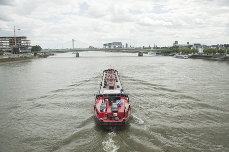 business transportation of rhine scenic over the river  in europe  photo