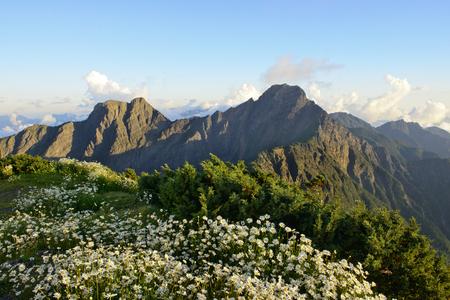 Mountain scenery in yushan national park 写真素材