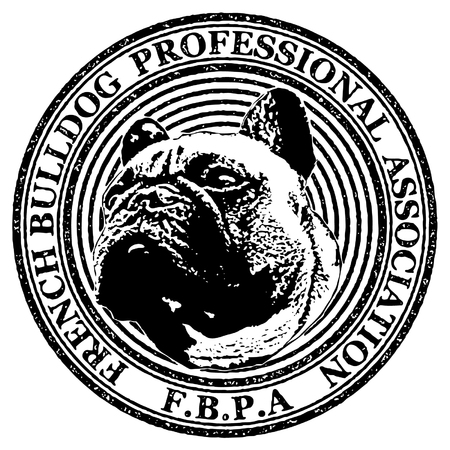 french bulldog: French Bulldog Professional Association icon stamp