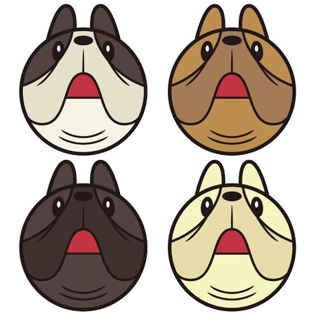 french bulldog: French Bulldog Face icon