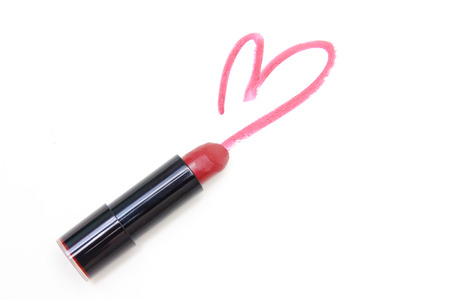 Heart drawn with pink lipstick
