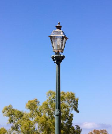 Electric lantern garden close up view  photo