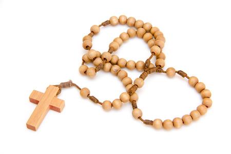 sacramentale: Rosari su uno sfondo bianco