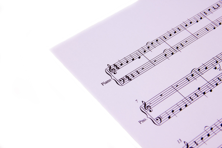 minuet: Sheet music for piano on white background
