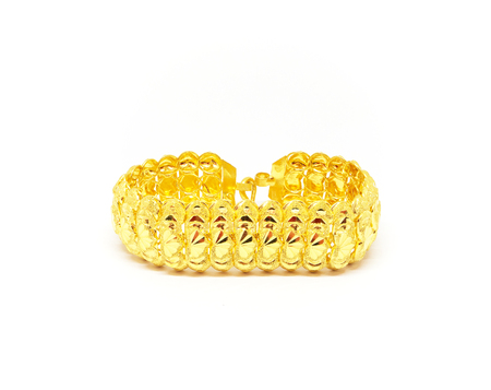 Gold Bracelet isolated white