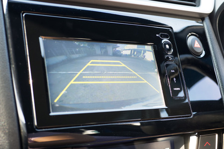 Car Rear View System Monitor reverse 스톡 콘텐츠