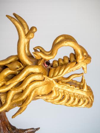 The gold dragon Stock Photo