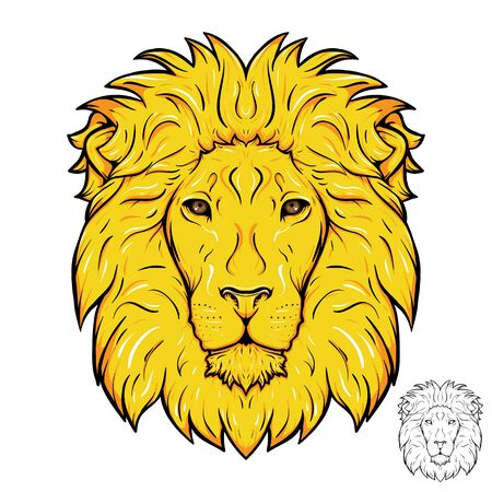 mane: Lion head. Gold mane.