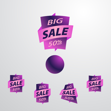 exclamation point: Big sale label set. Discount label. The exclamation point to offer.