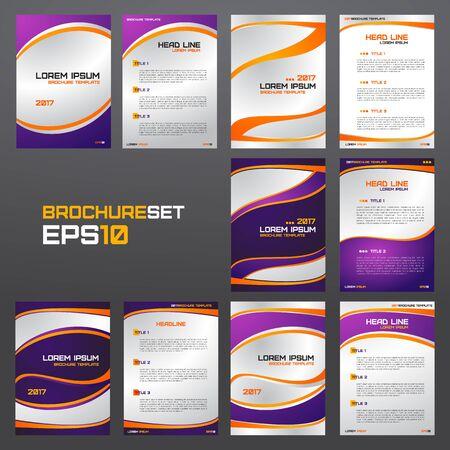 Set of brochure template, flyers, leaflets, letters, advertisements, banners, presentations, etc.