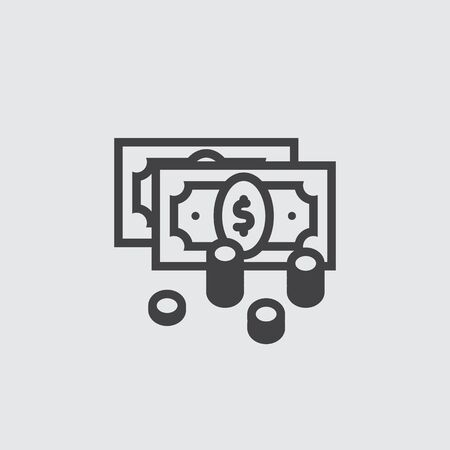cash money: Money icon, dollar cash