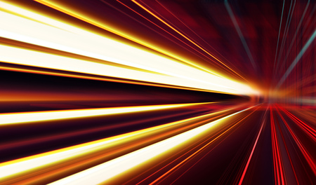 Abstract image of speed motion on the road at dark Imagens