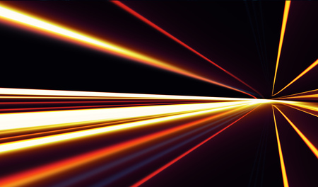 Abstract image of speed motion on the road at dark 写真素材