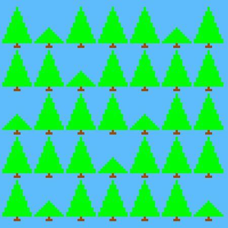 8 bit: Estilo retro de 8 bits ilustraci�n vectorial bosques