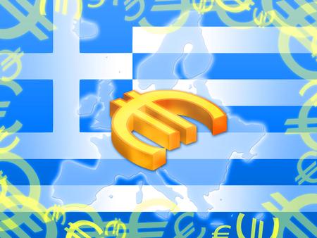 economy crisis: Grexit greek crisis european economy abstract background