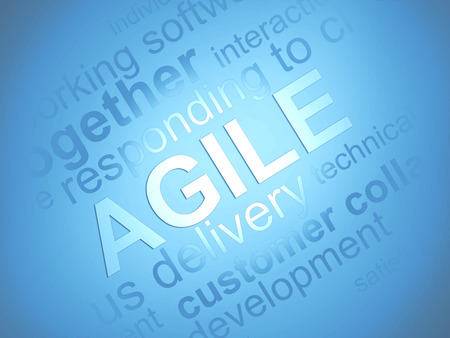 agile: Agile Software Development abstract background with words