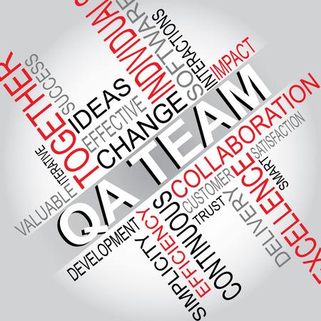 QA Team - Software Development typography vector illustration Stok Fotoğraf - 42948190