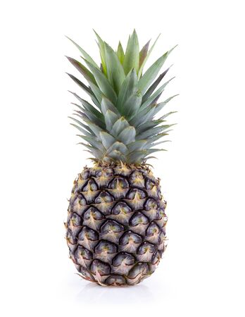 pineapple with slices isolated on white background. Фото со стока