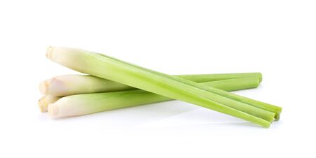 Lemongrass on a white background Banque d'images