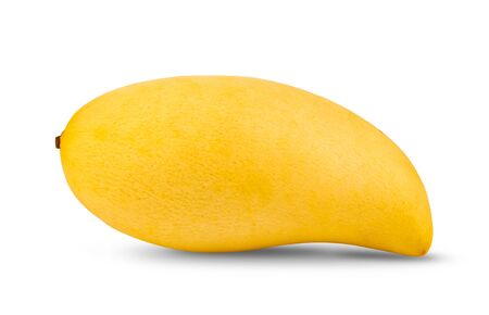 yellow mango isolated on white background. full depth of field