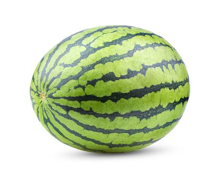 watermelon isolated on white background. full depth of field